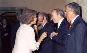 Wilfried Martens en la ceremonia de entrega del Premio Europeo Carlos V 2004