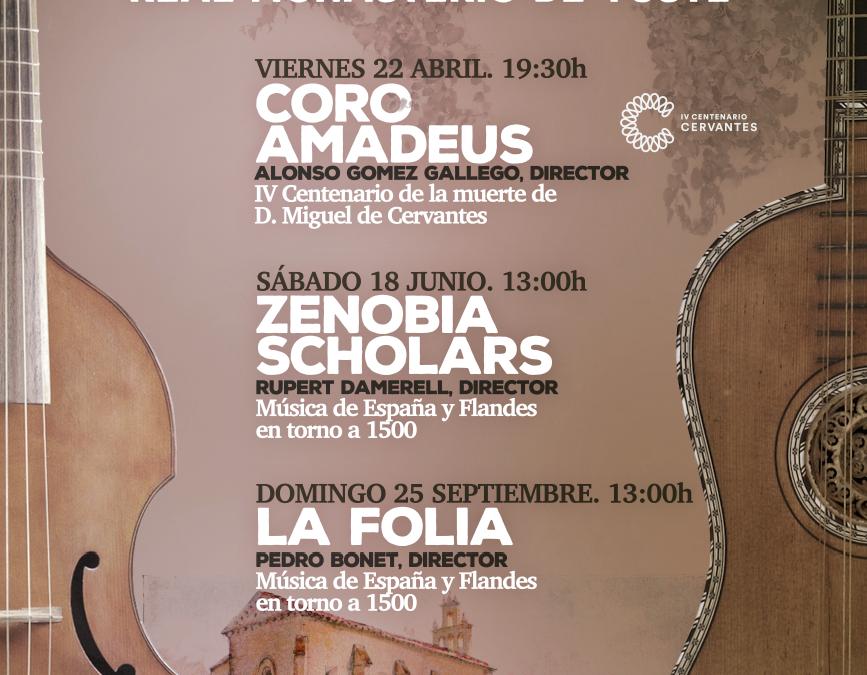 "The European Academy of Yuste Foundation initiates the ""Emperor's Concerts"" commemorating the figure of Miguel de Cervantes"