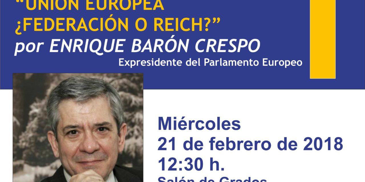 Enrique Barón, expresidente del Parlamento Europeo