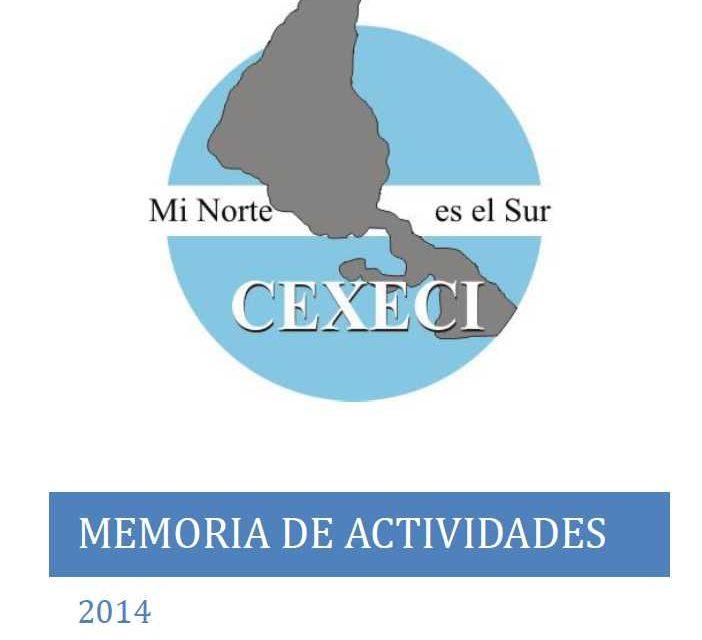 Memoria de actividades 2014 (CEXECI)