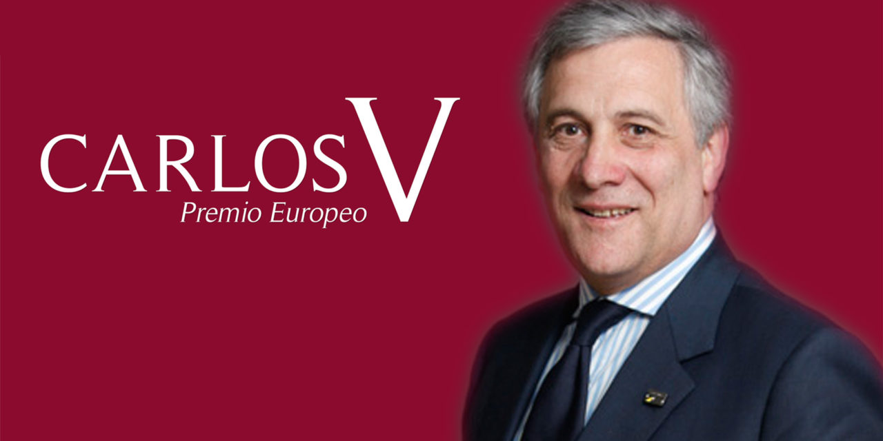 The President of the European Parliament, Antonio Tajani, Winner of the Carlos V European Award