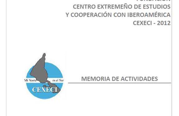 Memoria de actividades 2012 (CEXECI)