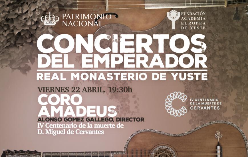 La Fundación Academia Europea de Yuste inaugura los 'Conciertos del Emperador' conmemorando la figura de Miguel de Cervantes