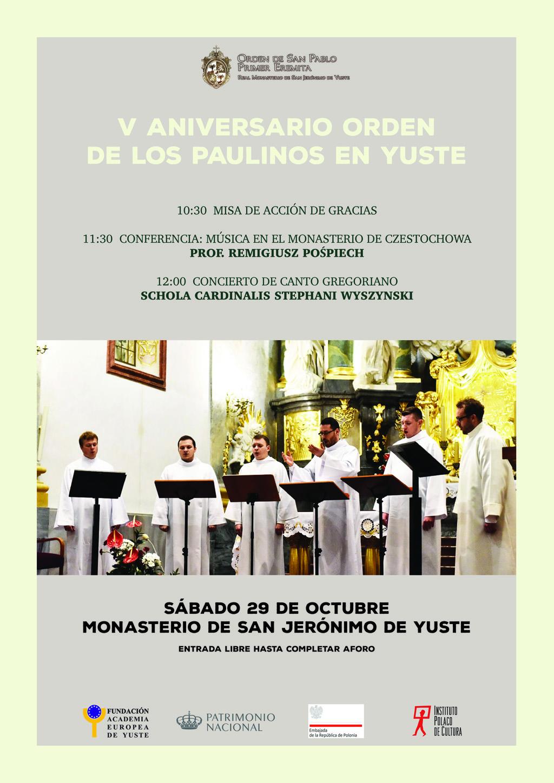 La Fundación Academia Europea de Yuste colabora en las actividades del V aniversario de la llegada de los paulinos al Monasterio de Yuste