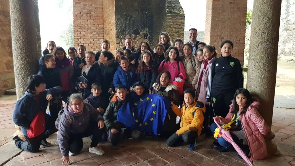 Students from schools in Navalmoral de la Mata learn about the construction of Europe and democratic values during their visit to Yuste Foundation