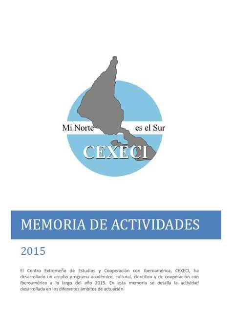 Memoria de actividades 2015 (CEXECI)