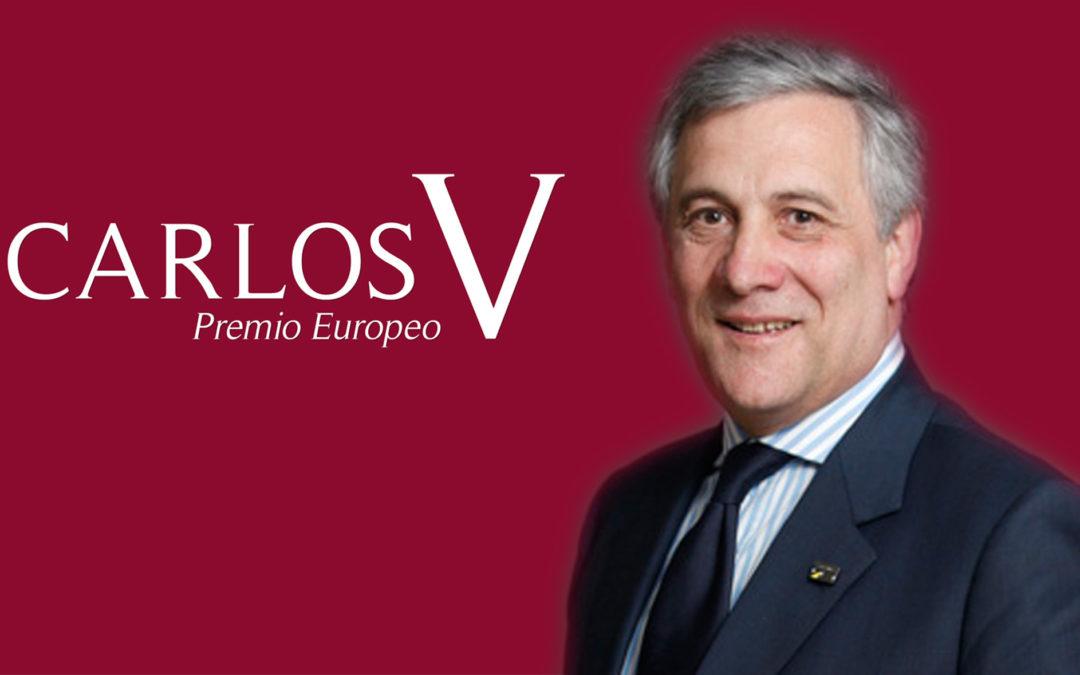 The President of the European Parliament, Antonio Tajani, Winner of the Carlos V European Award