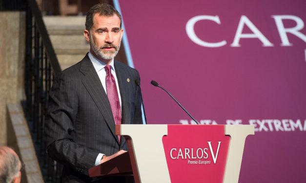 Felipe VI presidirá la ceremonia de entrega del Premio Europeo Carlos V de la Fundación Yuste a Antonio Tajani, presidente del Parlamento Europeo