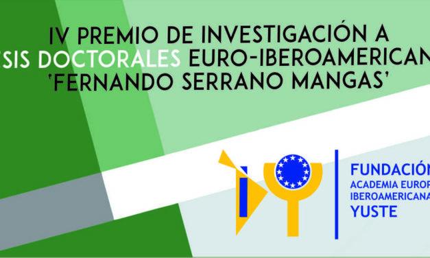 IV Premio de Investigación a Tesis Doctorales 'Fernando Serrano Mangas'