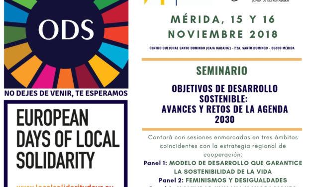 SEMINARIO «OBJETIVOS DE DESARROLLO SOSTENIBLE:  AVANCES Y RETOS DE LA AGENDA 2030»