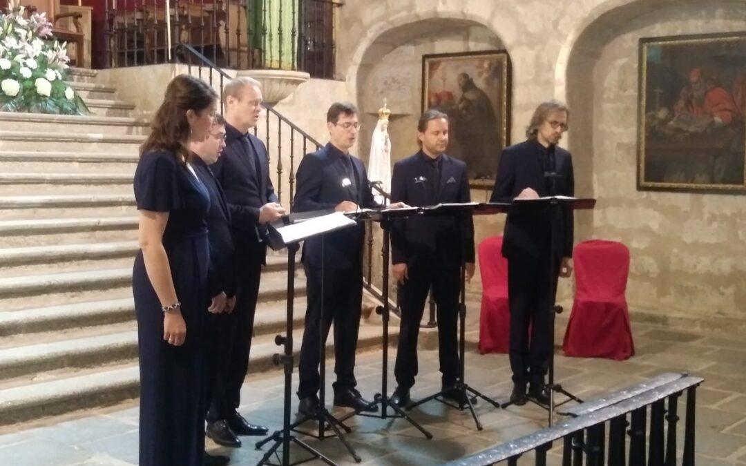 El grupo musical alemán 'Singer Pur' cierra el Ciclo de Conciertos del Emperador organizado por la Fundación Yuste y Patrimonio Nacional