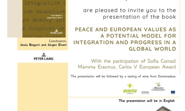 Presentation of the Book, Peace and European Values as a Potential Model for Integration and Progress in a Global World