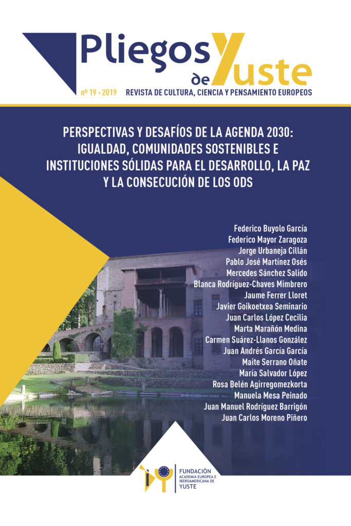 PERSPECTIVES AND CHALLENGES OF THE 2030 AGENDA: EQUALITY, SUSTAINABLE COMMUNITIES AND STRONG INSTITUTIONS FOR DEVELOPMENT, PEACE AND ACHIEVEMENT OF THE SDGs
