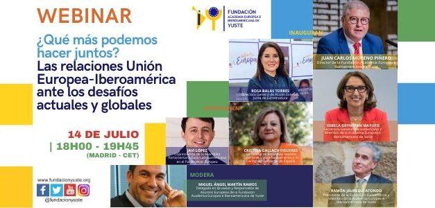 Webinar. ¿Qué más podemos hacer juntos? Las relaciones Unión Europea-Iberoamérica ante los desafíos actuales y globales