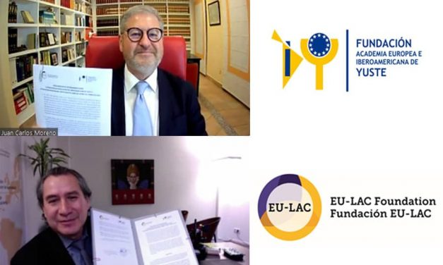 YUSTE FOUNDATION AND THE INTERNATIONAL EU-LAC FOUNDATION SIGN A COOPERATION AGREEMENT TO DEVELOP ACTIVITIES THAT LINK THE COUNTRIES OF THE EUROPEAN UNION, LATIN AMERICA AND THE CARIBBEAN