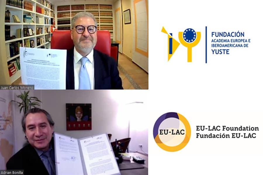 La Fundación Yuste y La Fundación Internacional EU-LAC firman un convenio de colaboración para desarrollar actividades que vinculen a los paises de la Unión Europea, América Latina y el Caribe