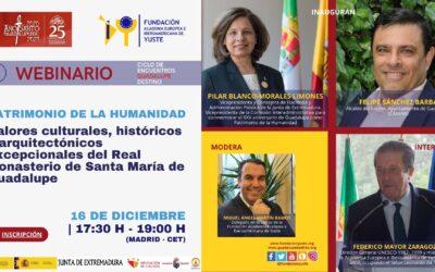 Federico Mayor Zaragoza cierra el ciclo de encuentros 'Guadalupe Destino' organizado por la Fundación Yuste