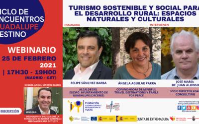 Webinario «Turismo Sostenible y Social para el Desarrollo Rural: Espacios Naturales y Culturales»
